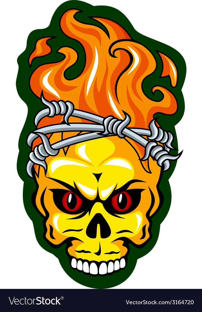 Skull tattoo vector | Price: 1 Credit (USD $1)