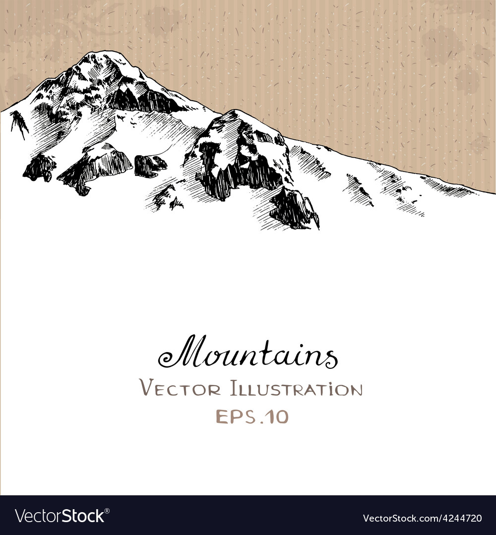 Snow peak vector | Price: 1 Credit (USD $1)