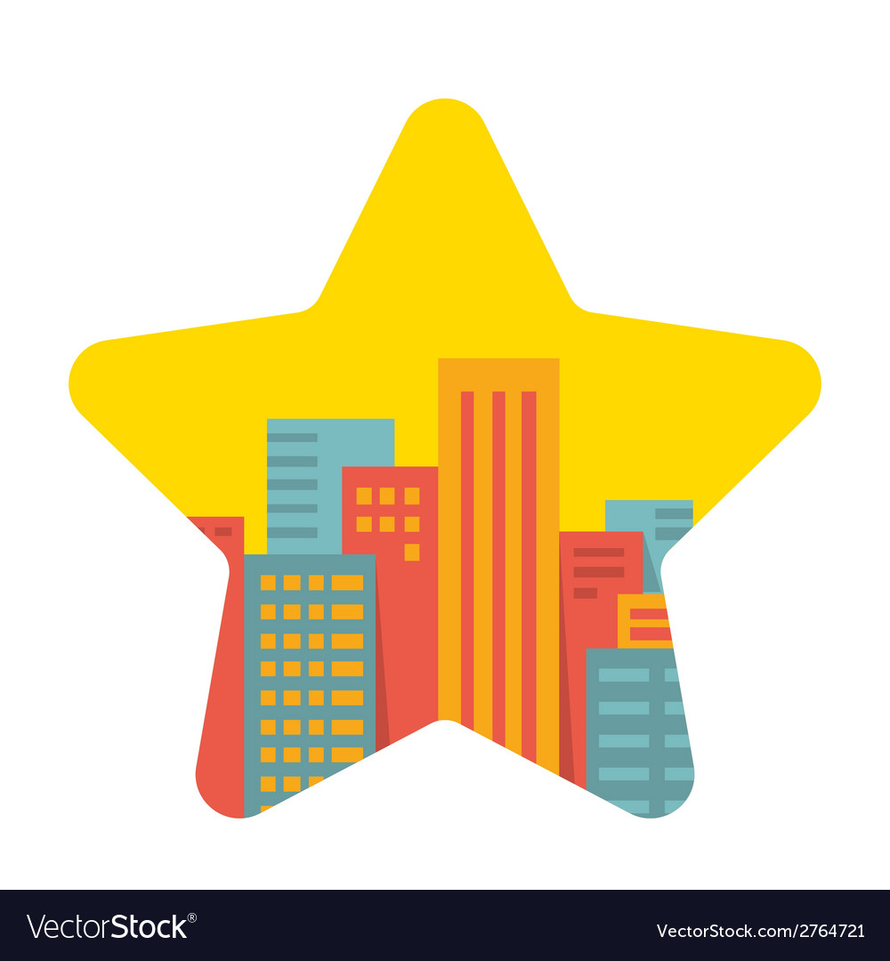 Background a large city in the star vector | Price: 1 Credit (USD $1)