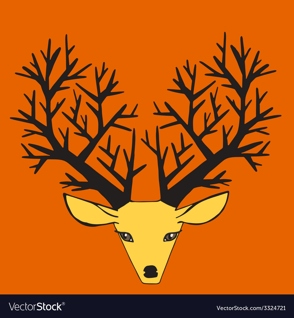 Beautiful deer vector | Price: 1 Credit (USD $1)