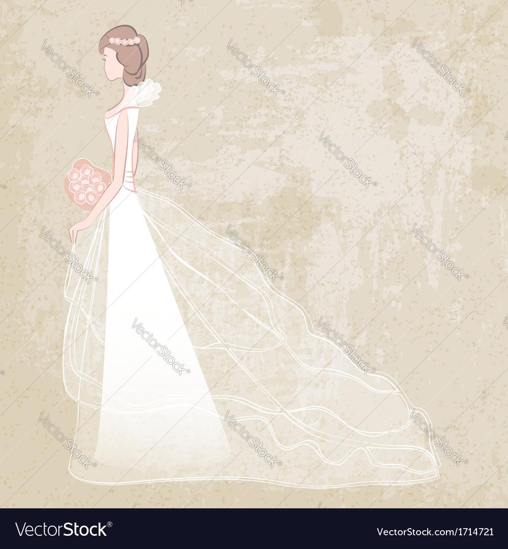 Bride in wedding dress vector | Price: 1 Credit (USD $1)