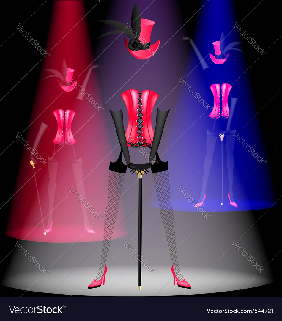 Cabaret dancer vector | Price: 1 Credit (USD $1)