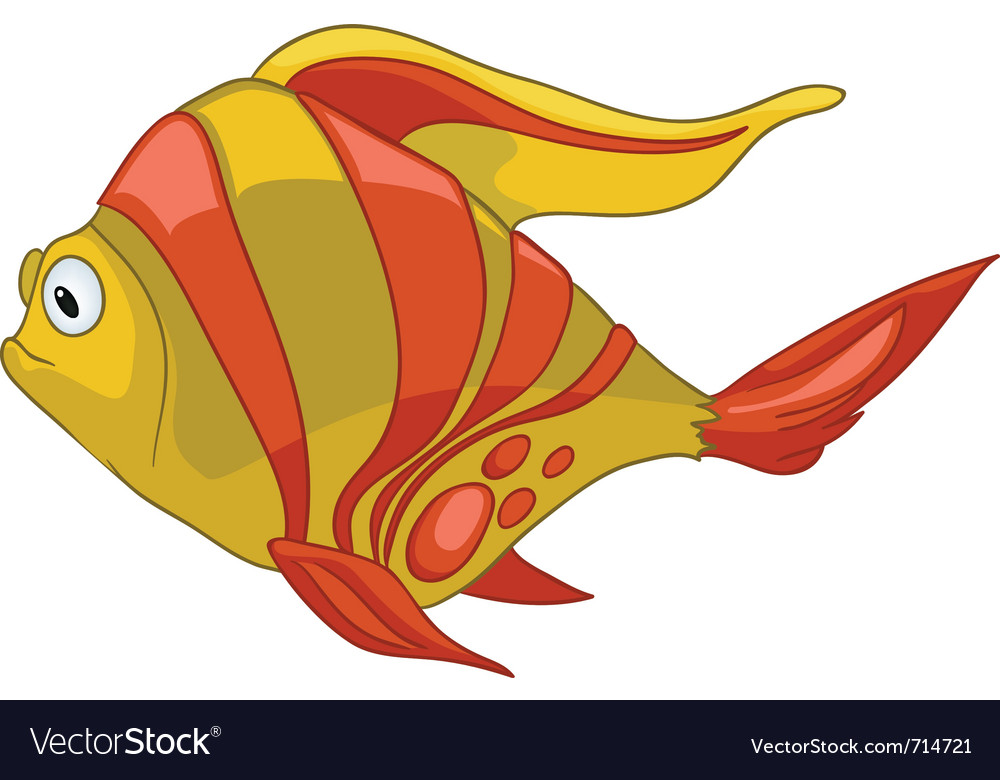 Cartoon character fish vector | Price: 1 Credit (USD $1)