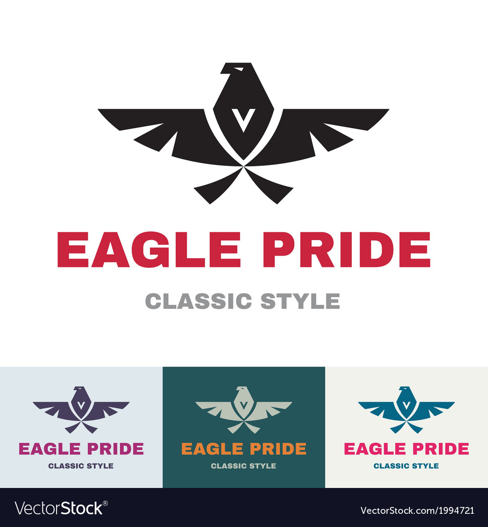 Eagle pride - logo in classic graphic style vector | Price: 1 Credit (USD $1)