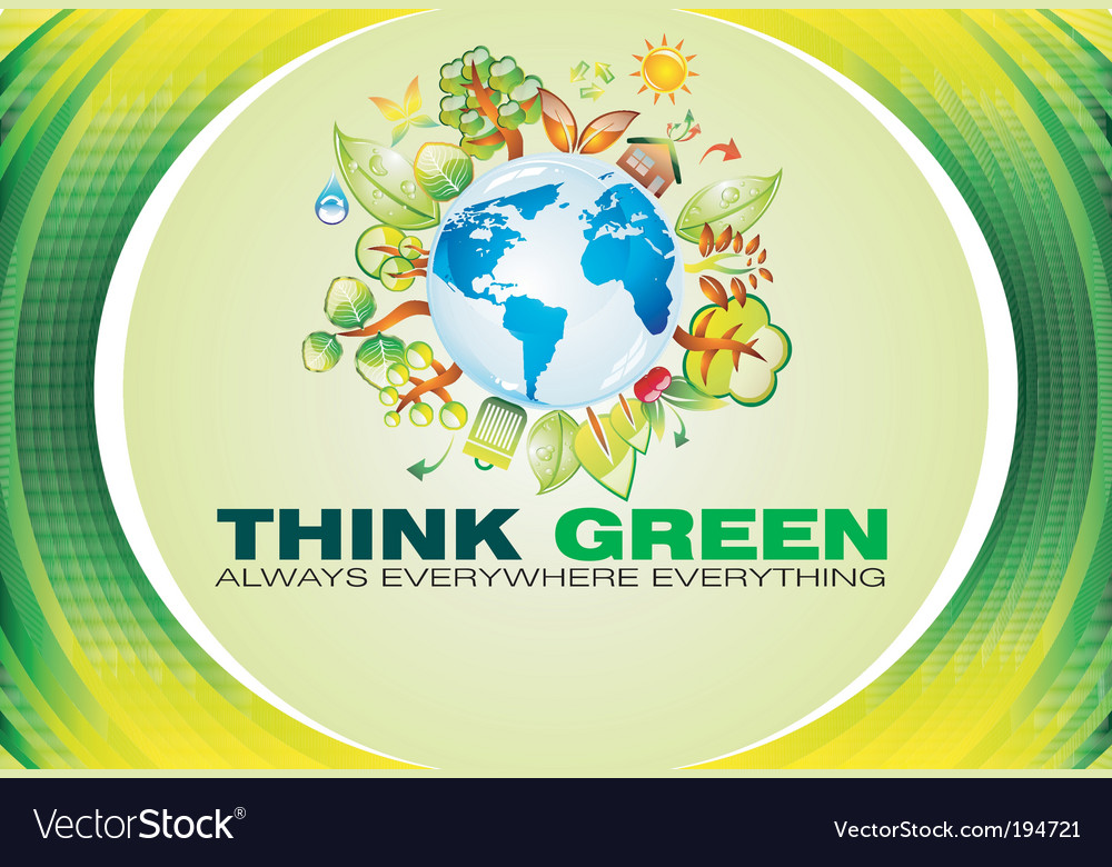 Ecology green background vector | Price: 3 Credit (USD $3)