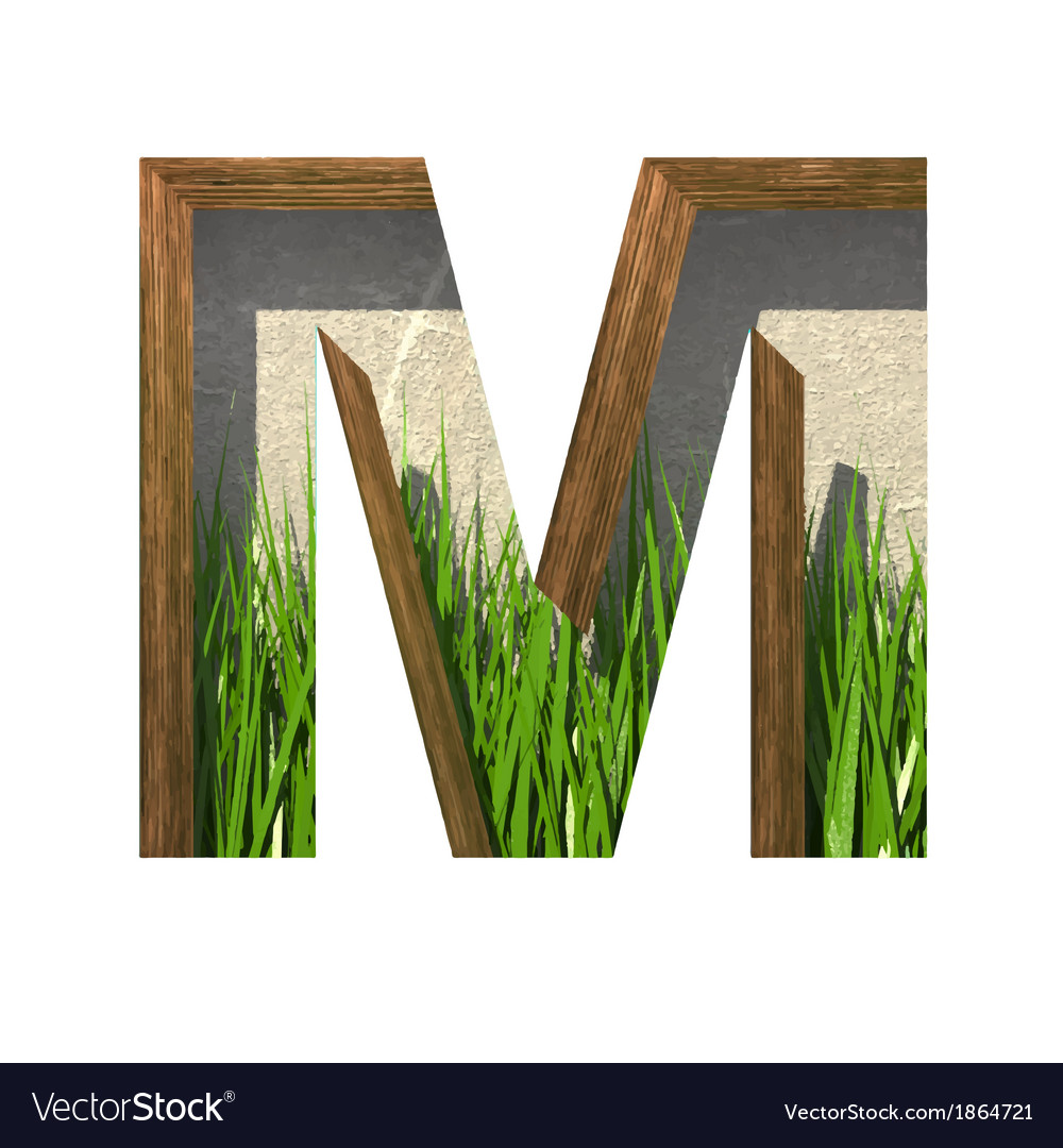 Grass cutted figure m paste to any background vector | Price: 1 Credit (USD $1)