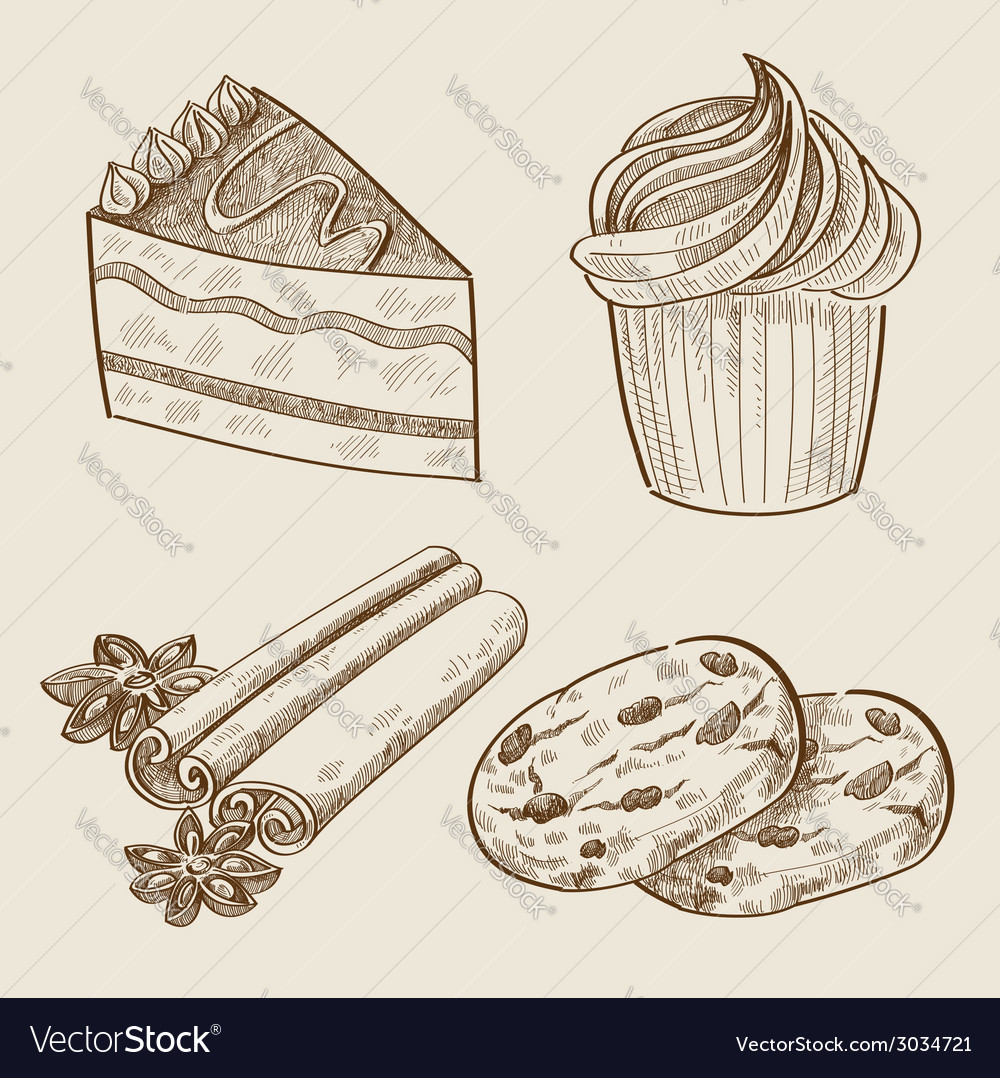 Hand drawn sweets vector | Price: 1 Credit (USD $1)