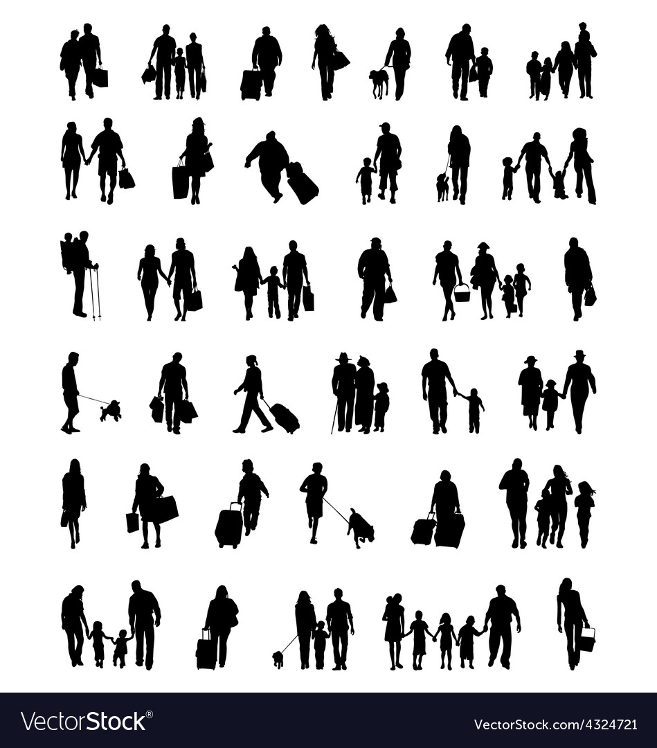 People which walk vector   Price: 1 Credit (USD $1)
