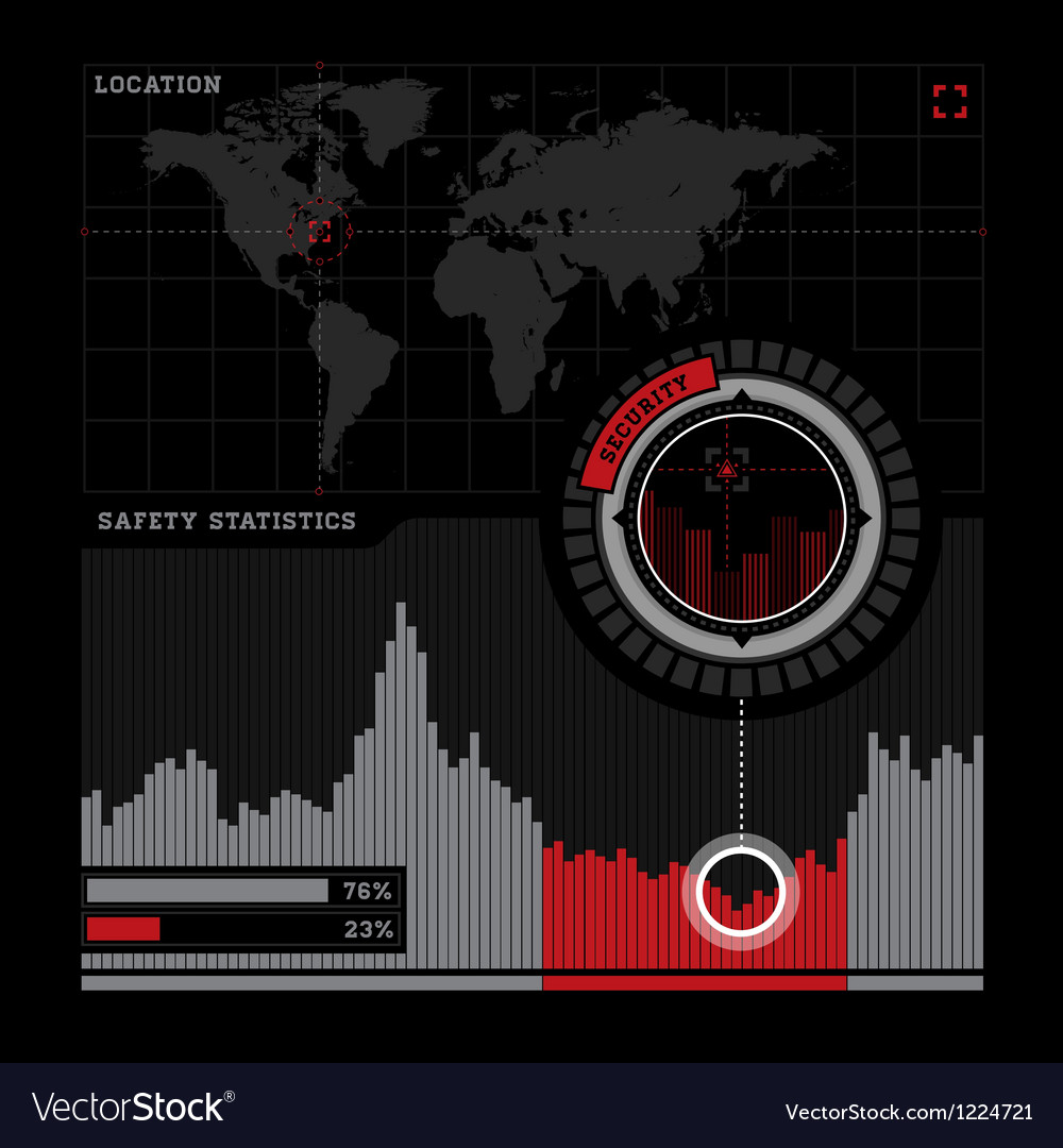 Security radar and infographics vector | Price: 1 Credit (USD $1)