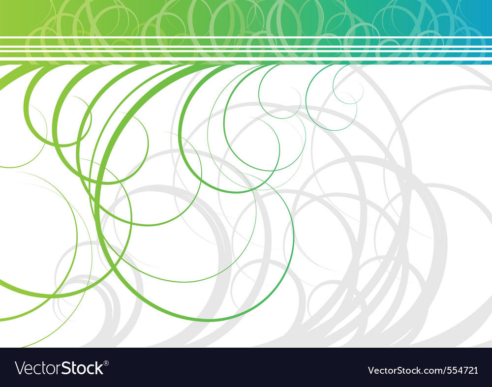 Swirl background in green color vector | Price: 1 Credit (USD $1)