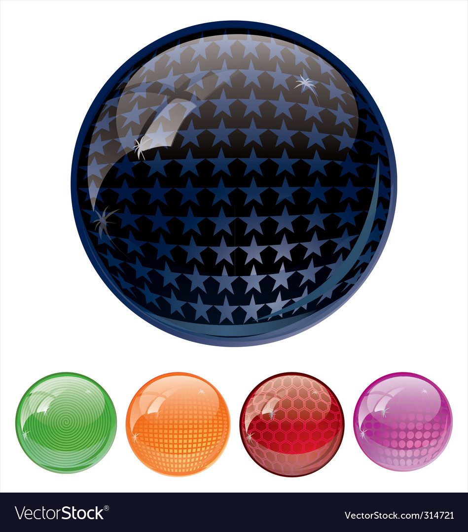 Ultra glossy globes vector | Price: 1 Credit (USD $1)