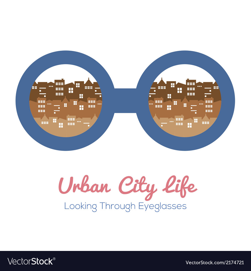 Urban city life vector | Price: 1 Credit (USD $1)