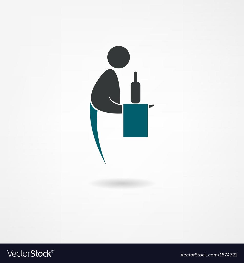 Waiter icon vector | Price: 1 Credit (USD $1)
