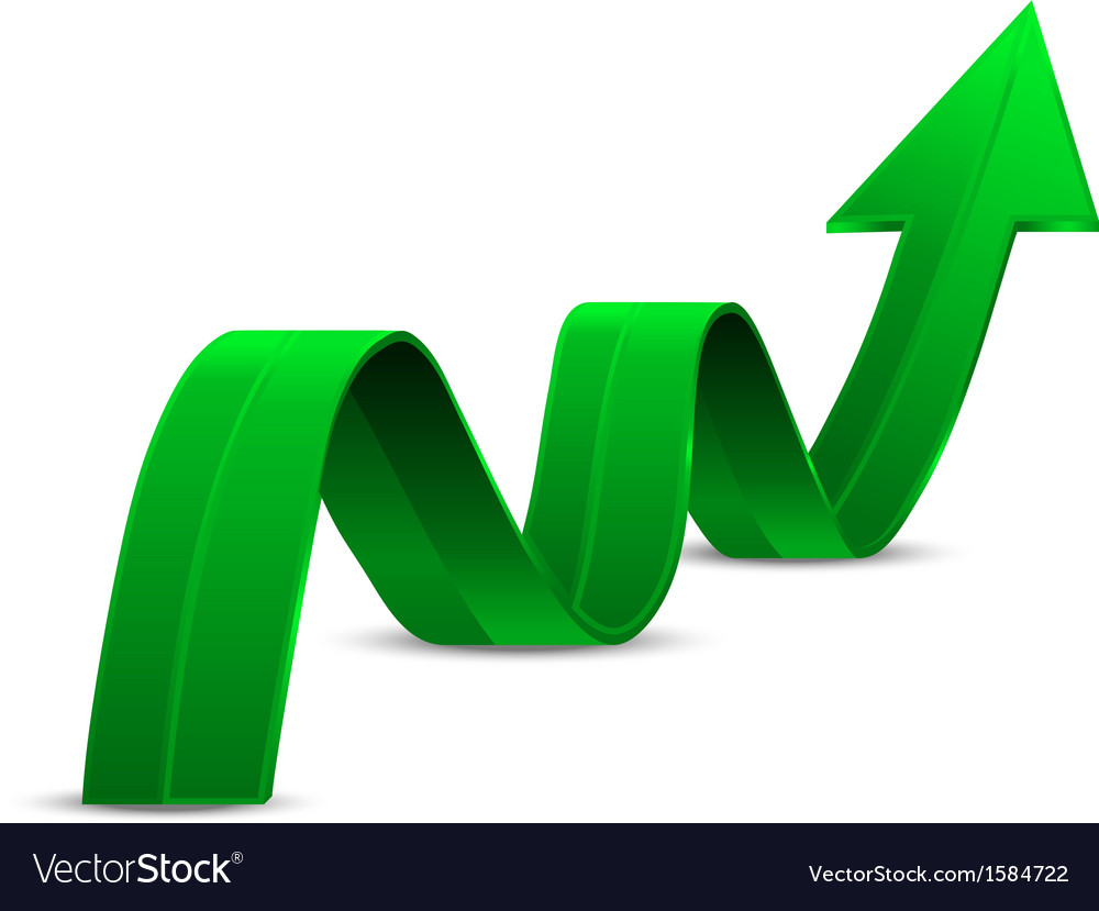 Abstract green arrow up vector   Price: 1 Credit (USD $1)