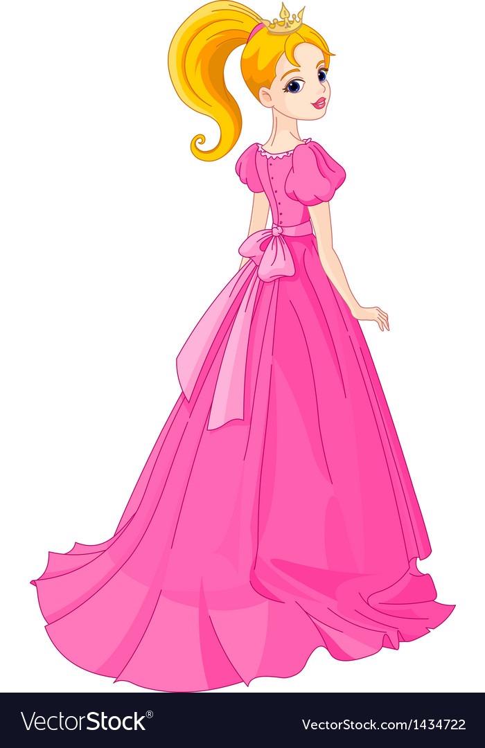 Beautiful princess vector | Price: 1 Credit (USD $1)