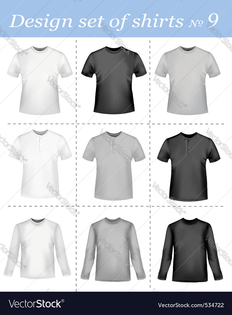 Black and white men polo shirt vector | Price: 1 Credit (USD $1)