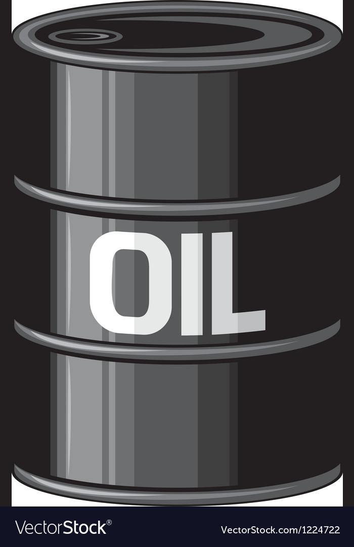Black oil barrel vector | Price: 3 Credit (USD $3)