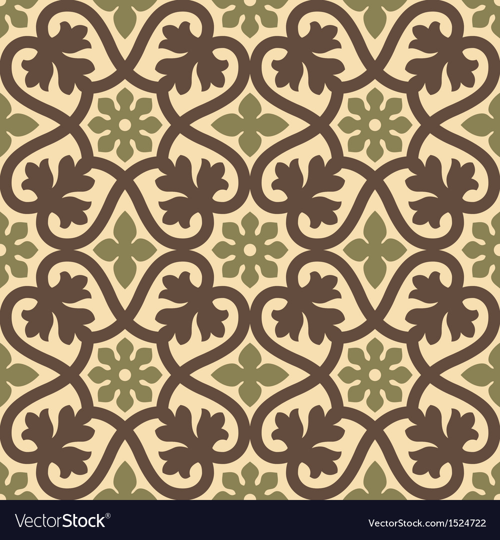 Classic vintage seamless pattern vector | Price: 1 Credit (USD $1)