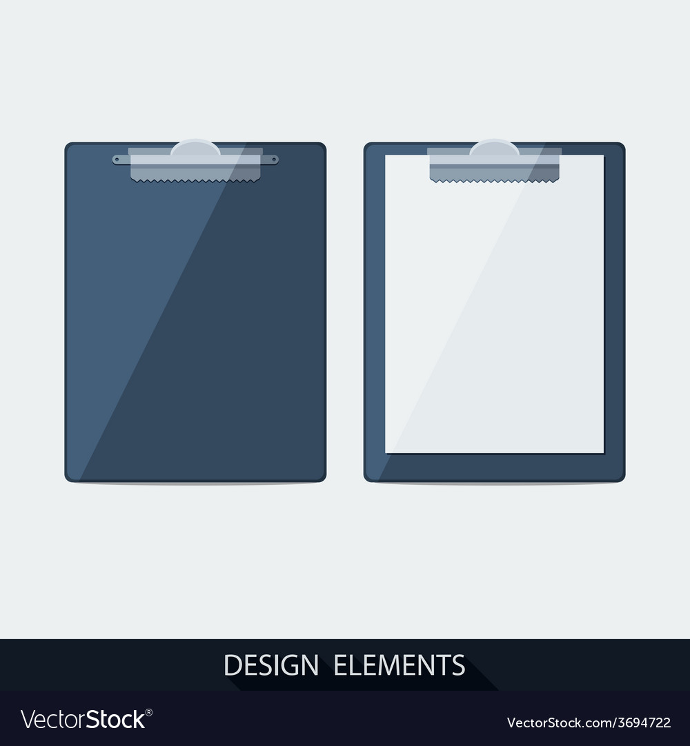 Clipboard with blank paper vector | Price: 1 Credit (USD $1)