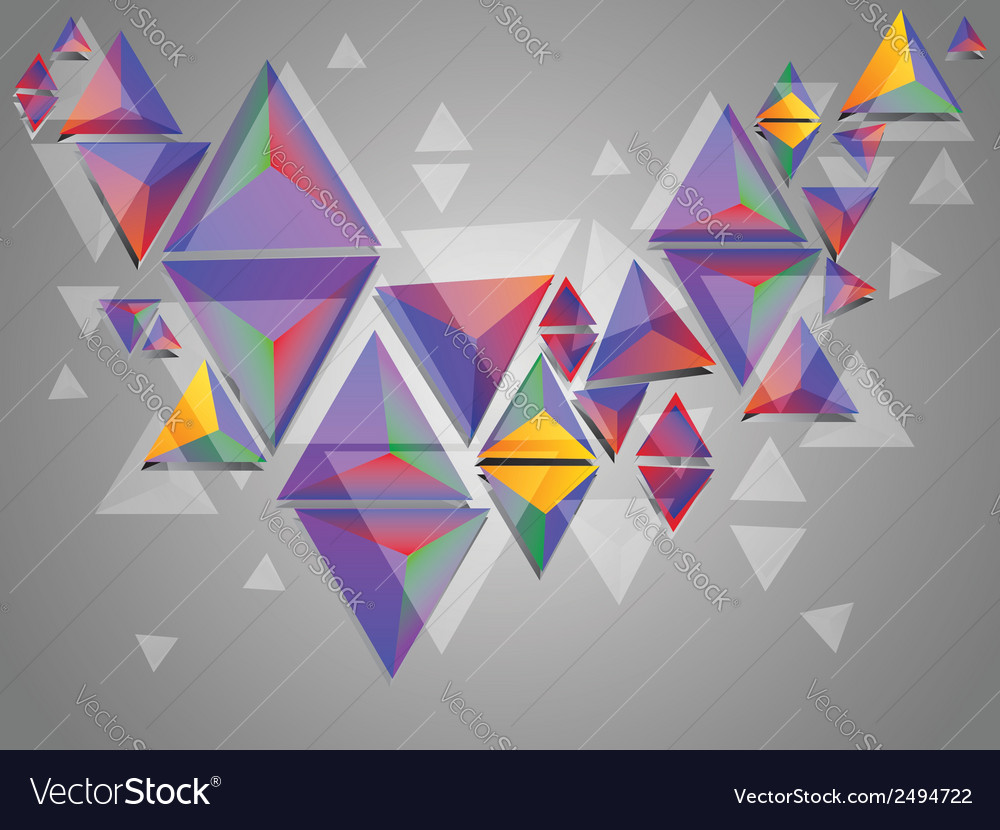 Colorful 3d triangles vector   Price: 1 Credit (USD $1)
