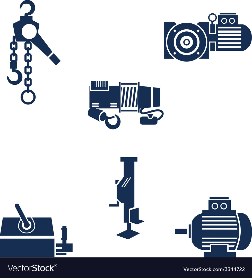 Different types of lifting devices vector | Price: 1 Credit (USD $1)