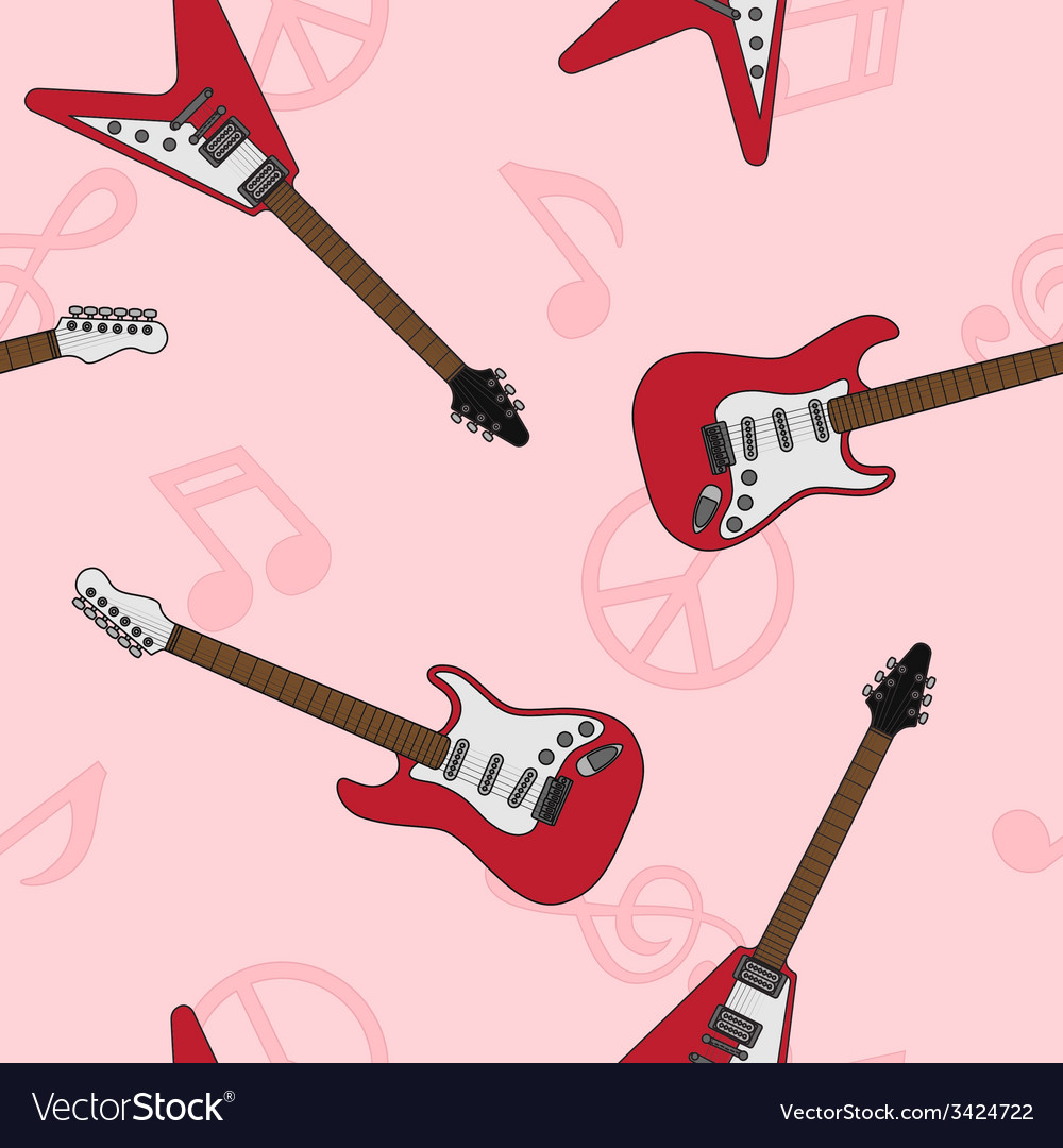 Guitar seamless 5 vector | Price: 1 Credit (USD $1)