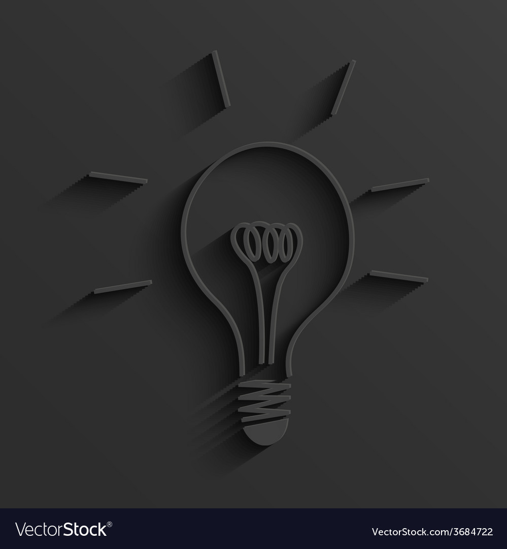 Modern light bulb background vector | Price: 1 Credit (USD $1)
