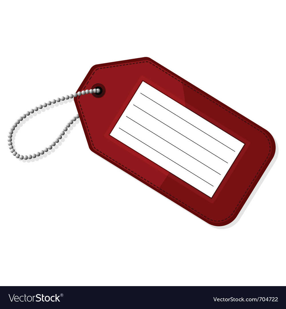 Red luggage tag vector | Price: 1 Credit (USD $1)