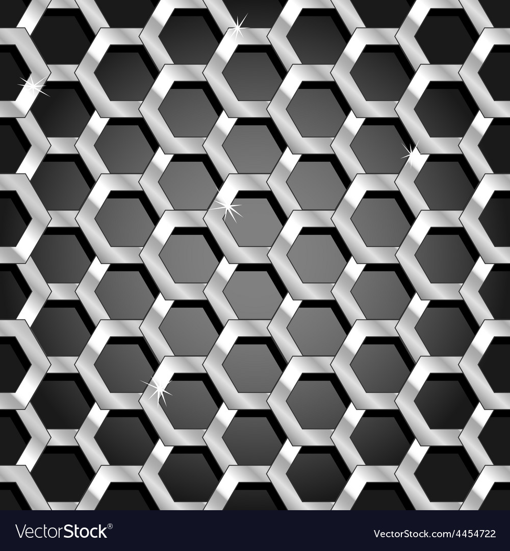 Seamless honeycomb pattern over black gradient vector | Price: 1 Credit (USD $1)