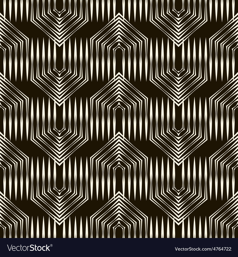Seamless pattern monochrome ornament vector | Price: 1 Credit (USD $1)