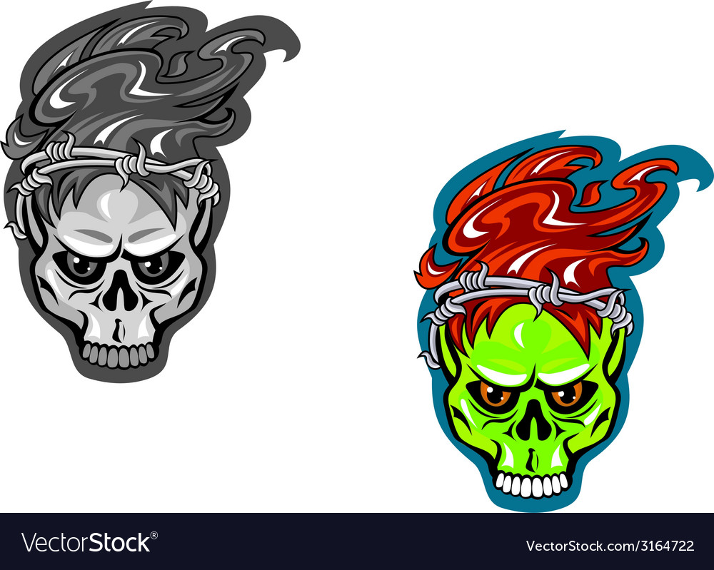 Skull tattoos vector | Price: 1 Credit (USD $1)
