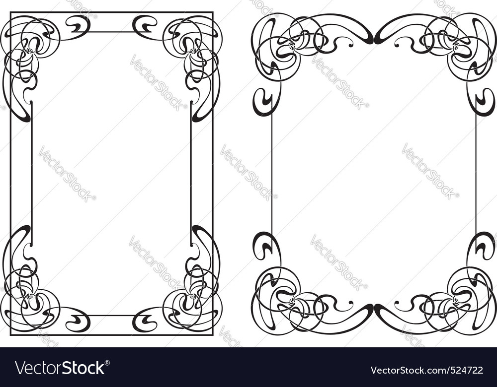 Two frame in style modern vector | Price: 1 Credit (USD $1)