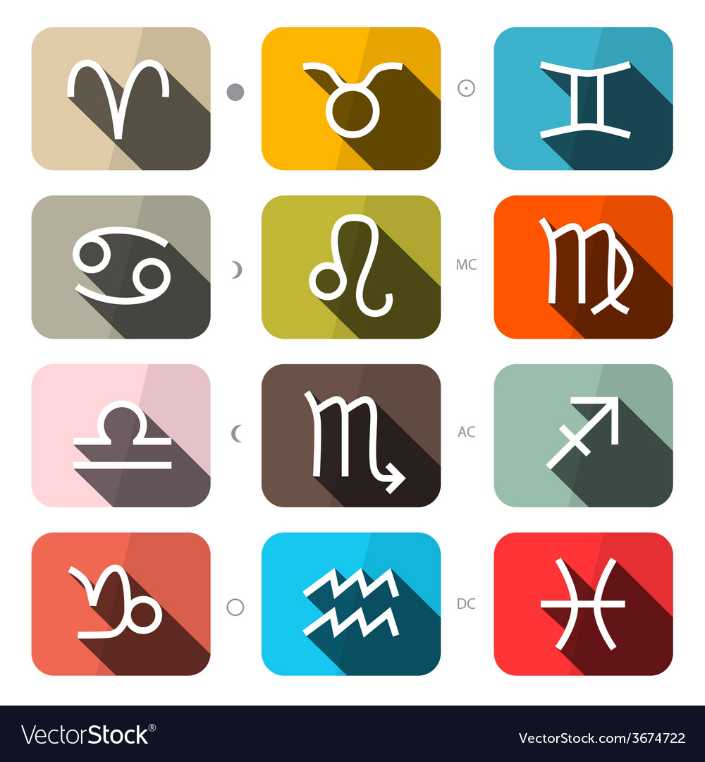 Zodiac - horoscope square icons set vector | Price: 1 Credit (USD $1)