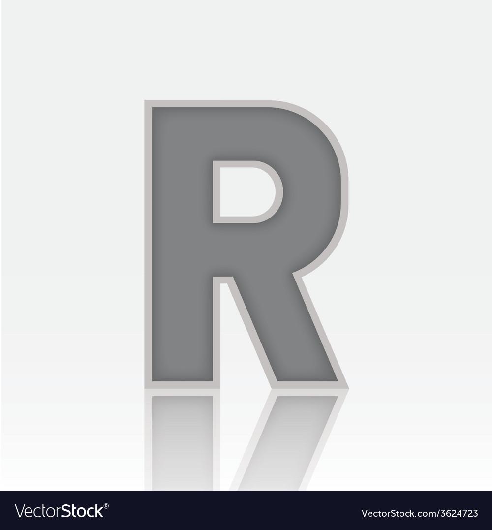 Alphabet r vector | Price: 1 Credit (USD $1)