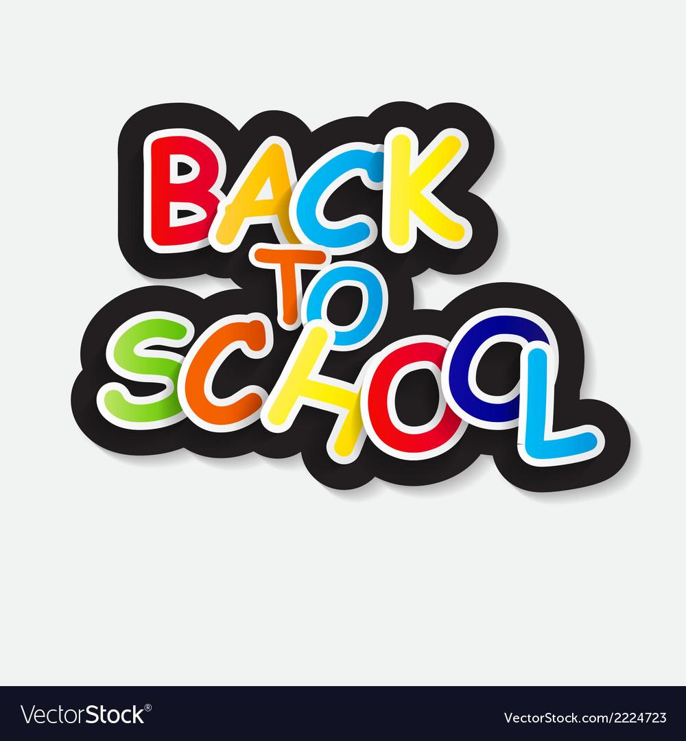 Back to school label concept vector | Price: 1 Credit (USD $1)