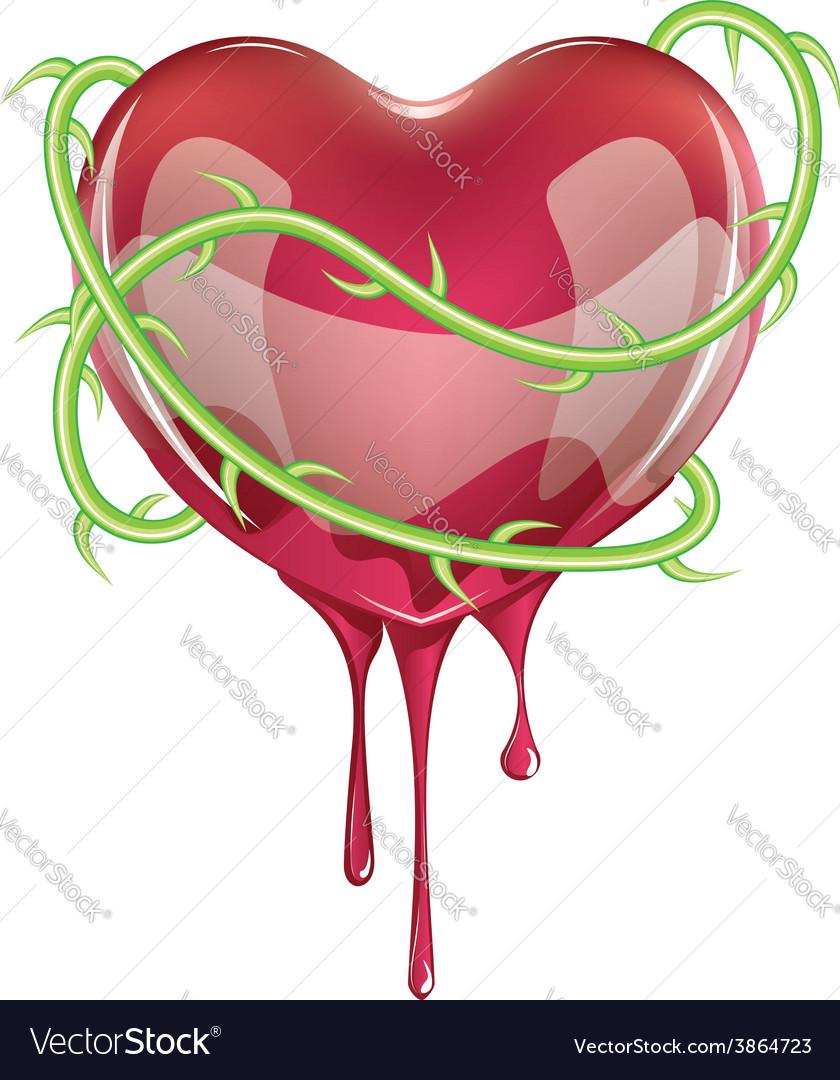 Bleeding red heart vector | Price: 1 Credit (USD $1)