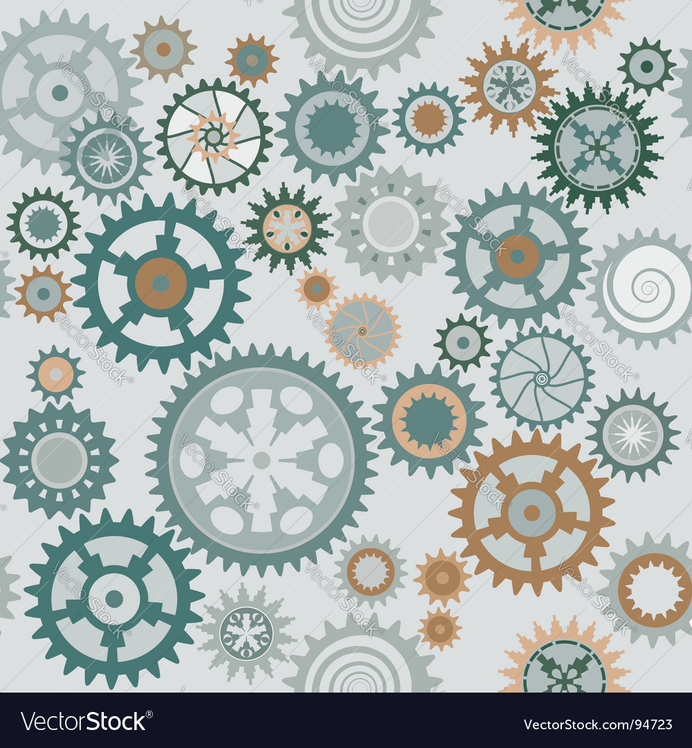 Clock cogwheels pattern vector | Price: 1 Credit (USD $1)