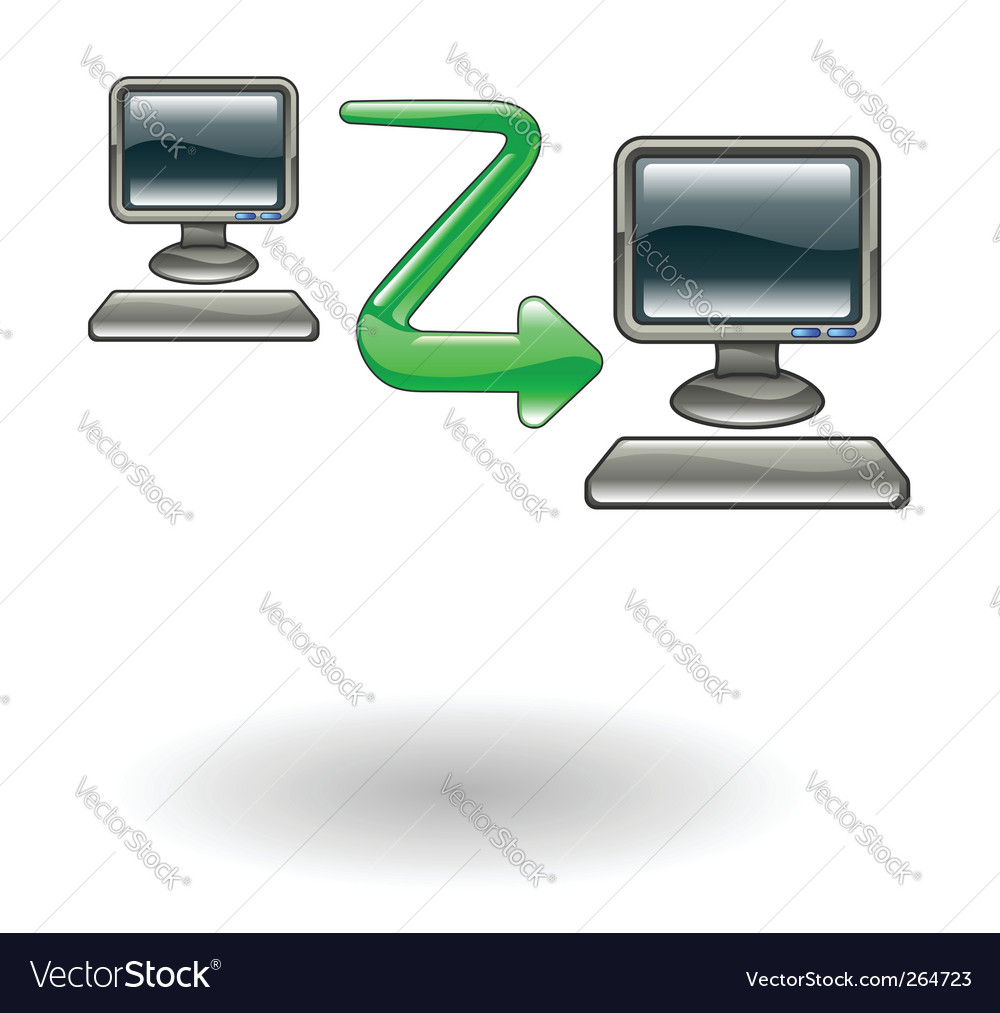 Computer to computer illustration vector | Price: 1 Credit (USD $1)
