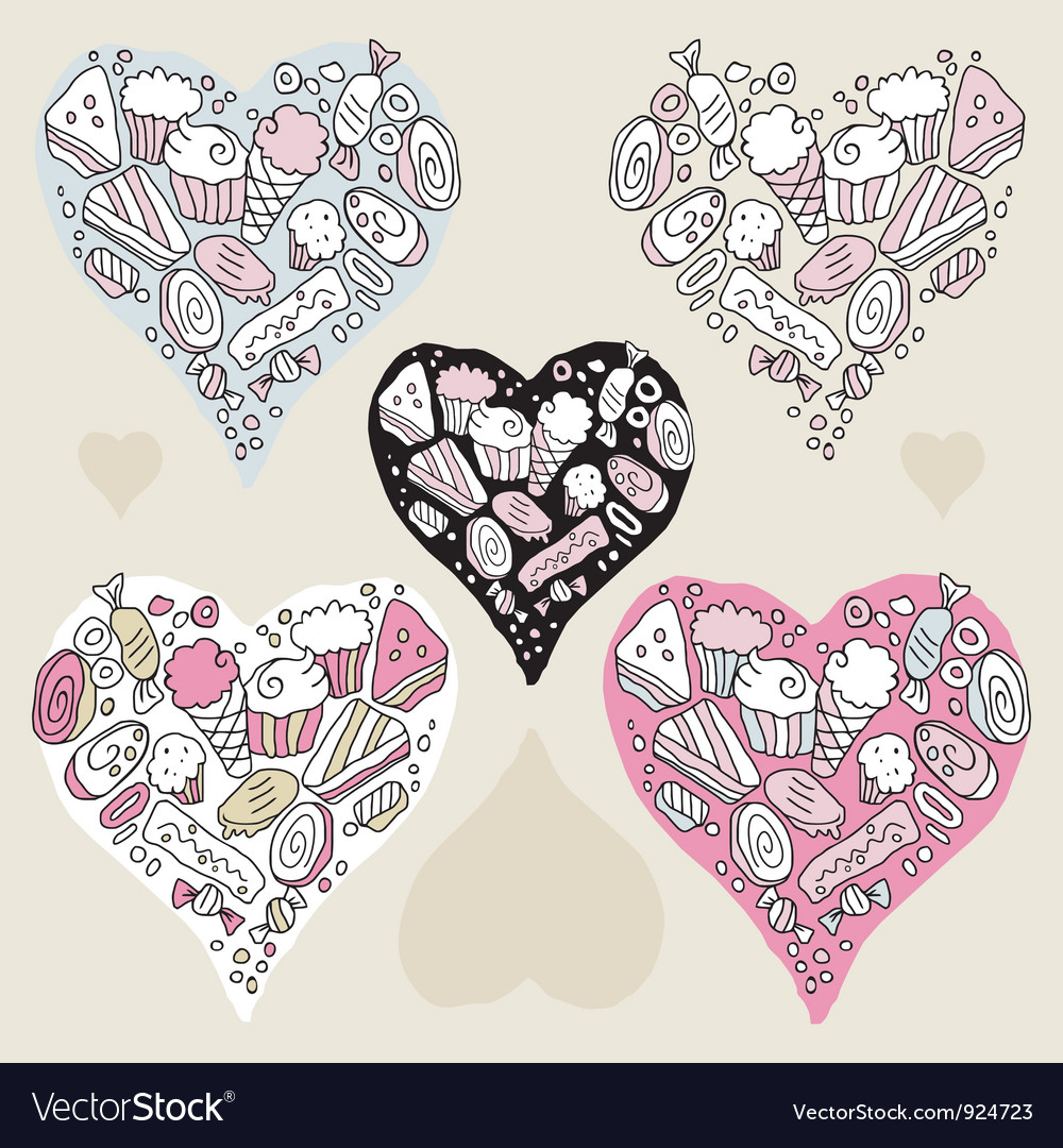 Doodle hearts vector | Price: 1 Credit (USD $1)