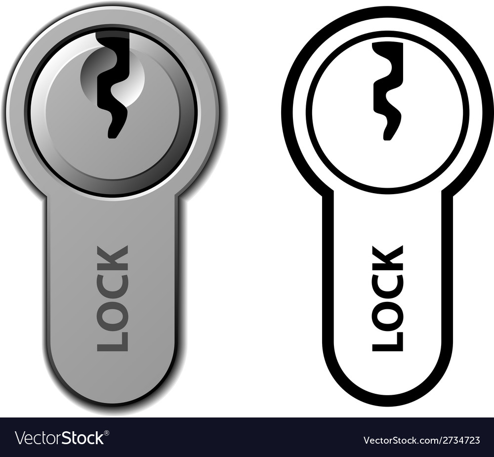 Door lock cylinder cartridge vector   Price: 1 Credit (USD $1)