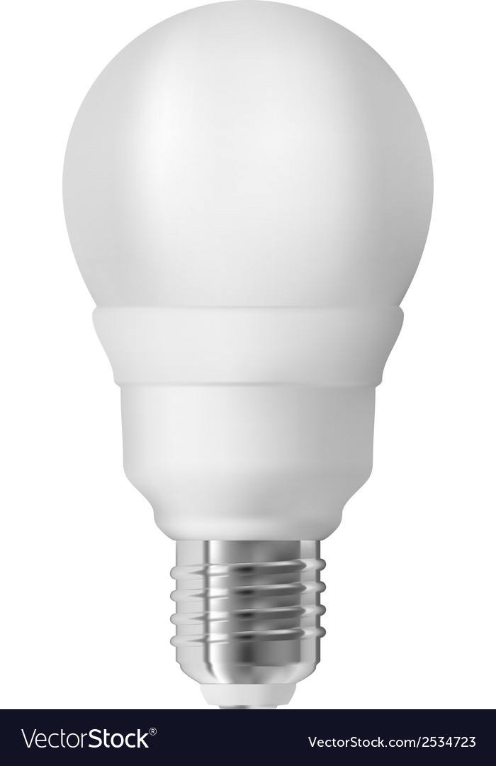 Energy saving light bulb vector | Price: 1 Credit (USD $1)