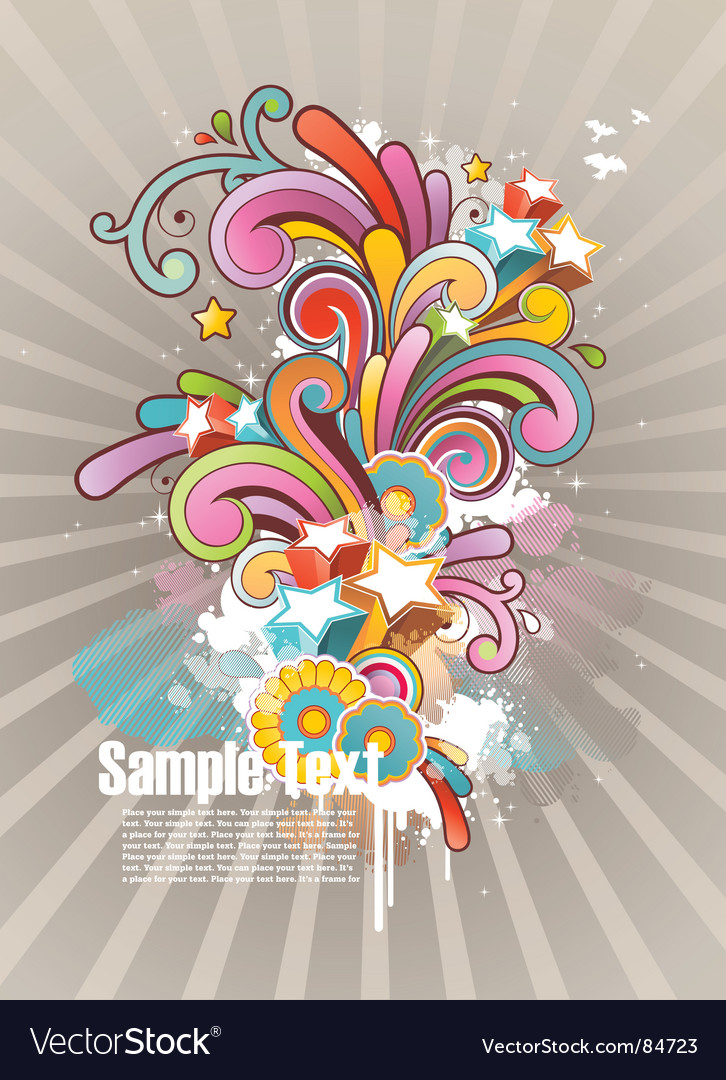 Funky graphic design vector | Price: 1 Credit (USD $1)