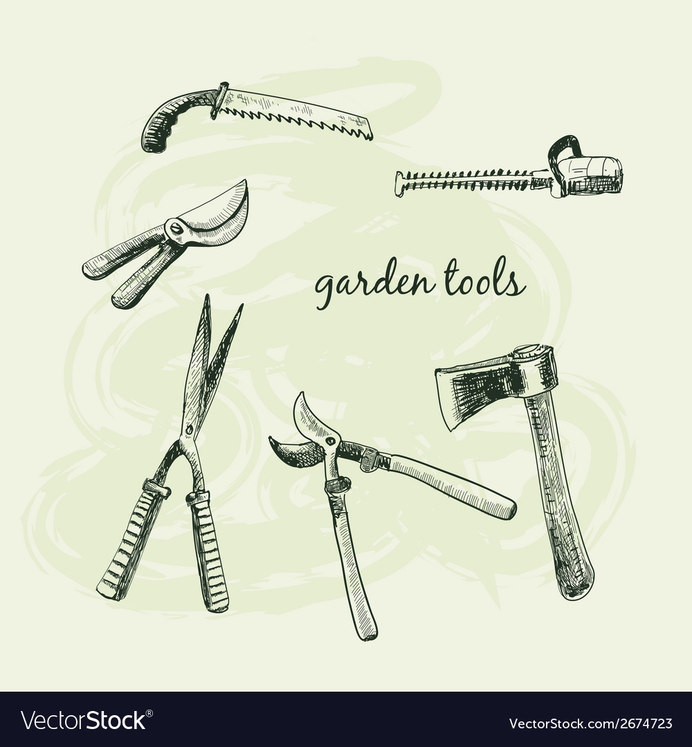 Garden tools vector | Price: 1 Credit (USD $1)