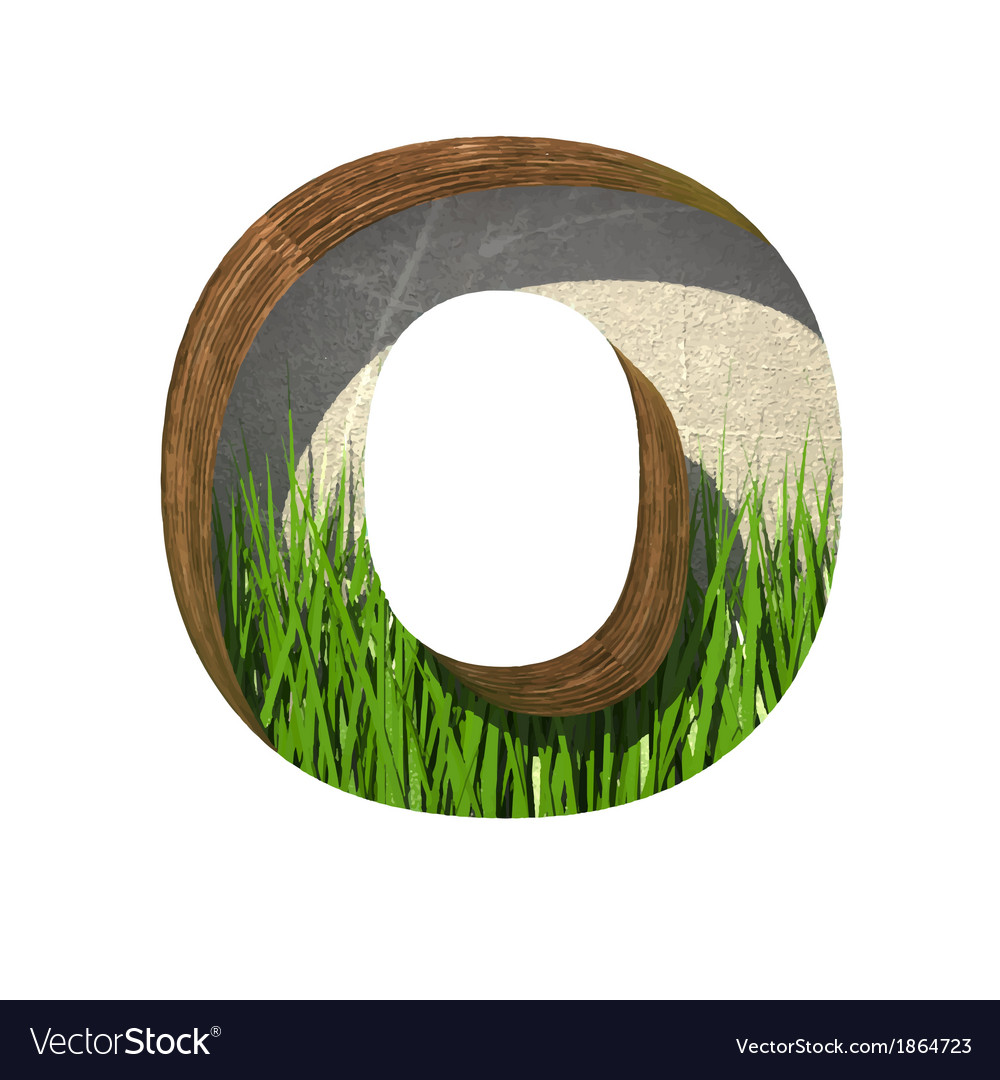 Grass cutted figure o paste to any background vector | Price: 1 Credit (USD $1)