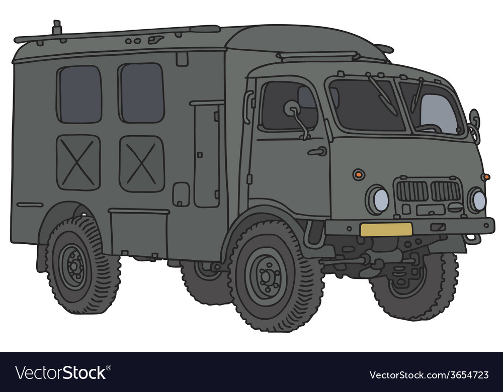 Military truck vector | Price: 1 Credit (USD $1)