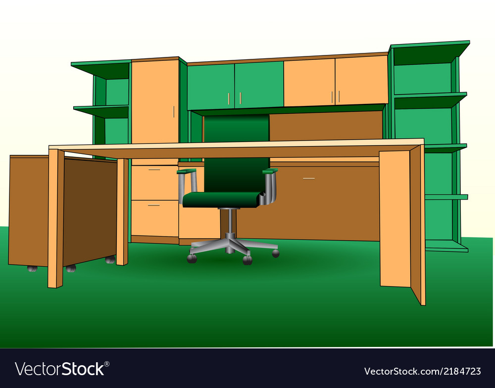 Modern office interior vector | Price: 1 Credit (USD $1)