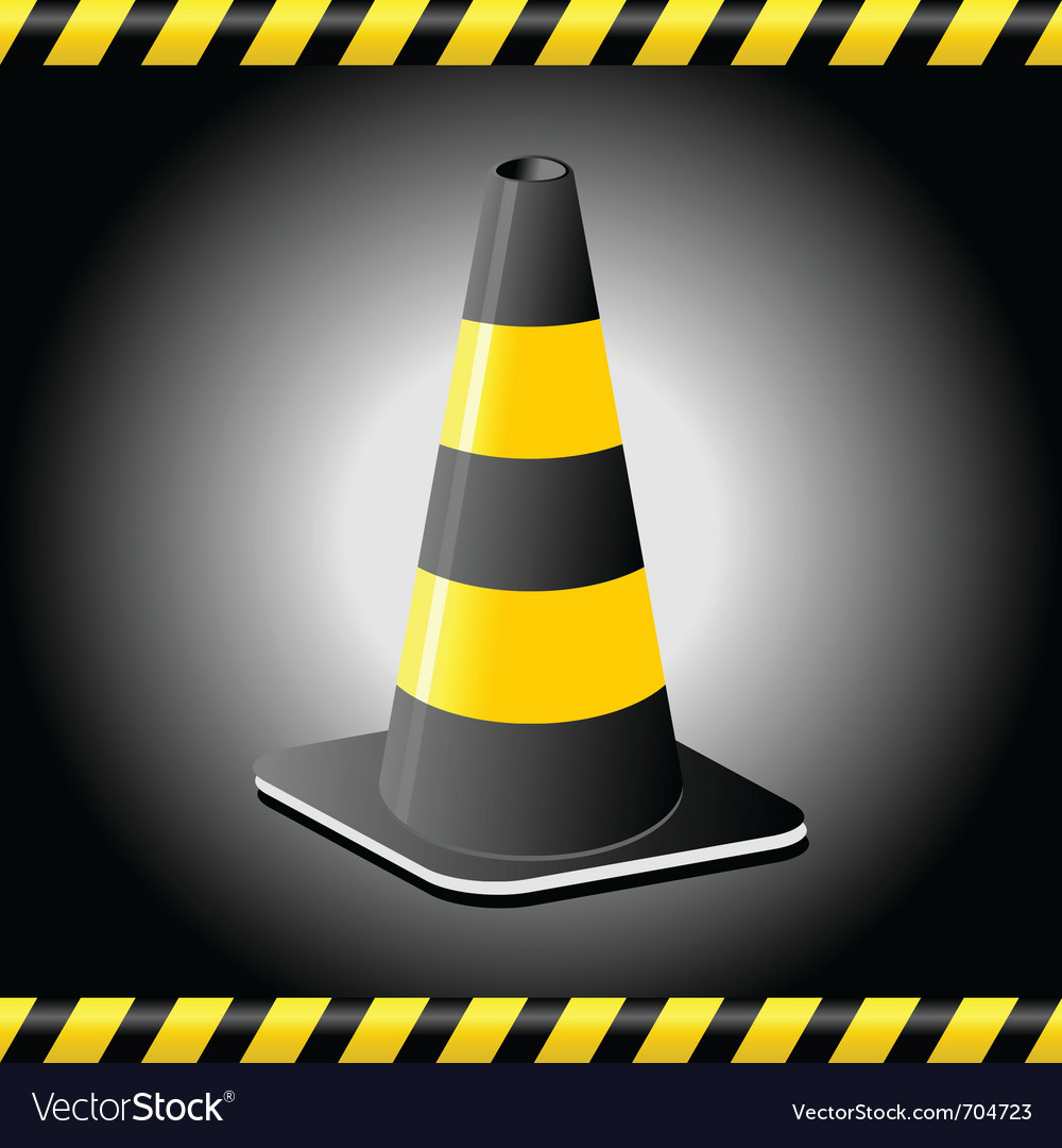 Traffic cone background vector | Price: 1 Credit (USD $1)