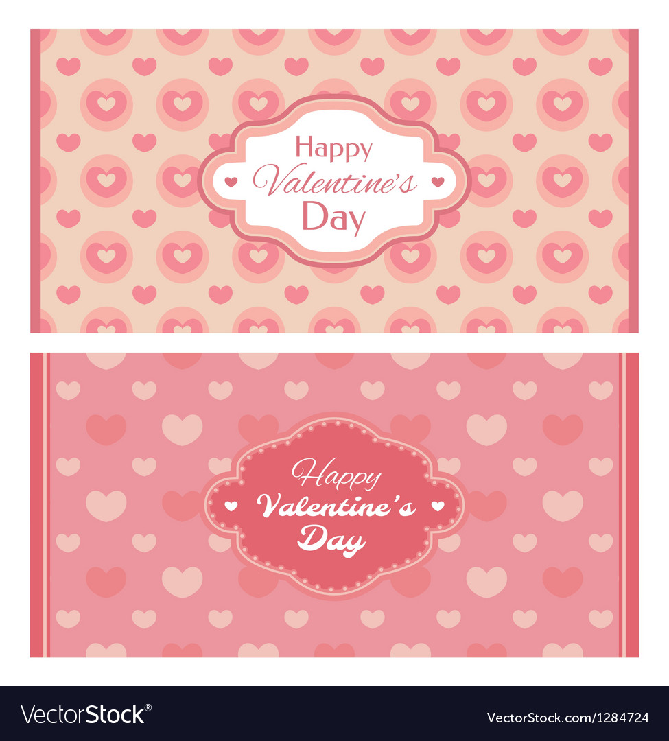 Abstract valentines day retro cards vector | Price: 1 Credit (USD $1)