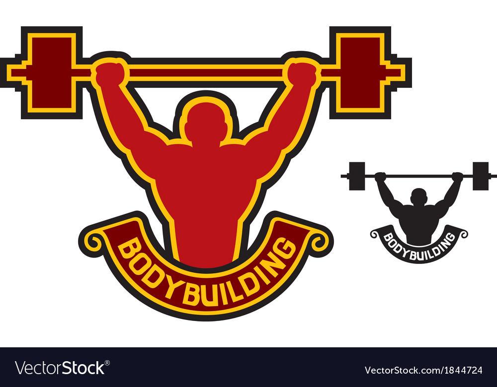Bodybuilding badge - weightlifter vector | Price: 1 Credit (USD $1)