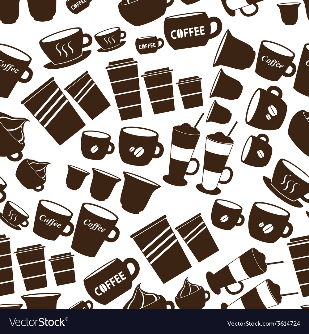 Coffee cups and mugs sizes variations icons vector | Price: 1 Credit (USD $1)